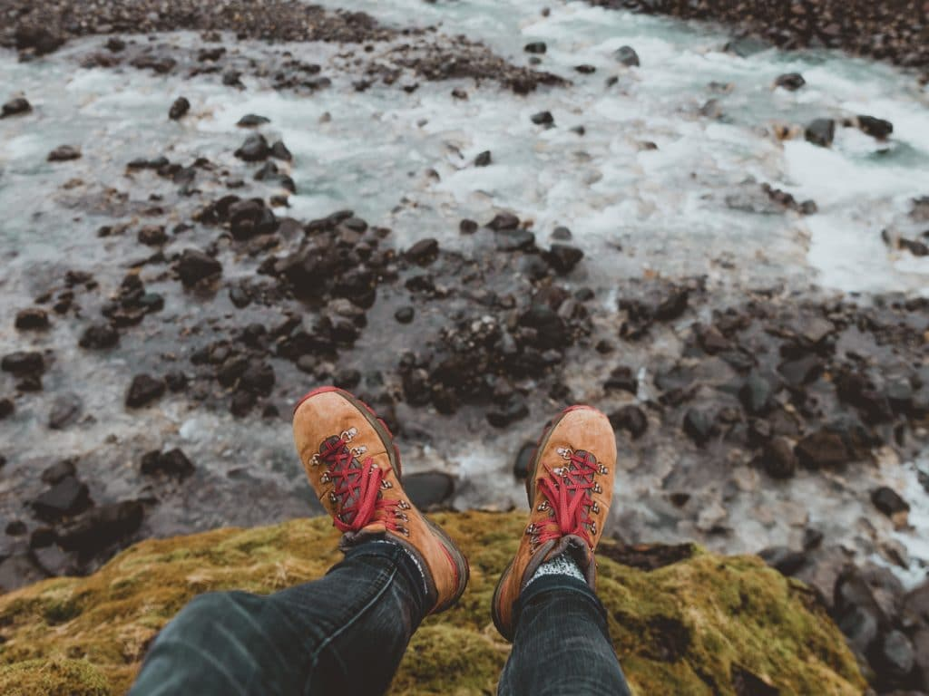 Solo travel quotes - hiking boots