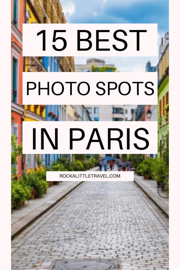 Best photo spots in Paris - Pinterest Pin