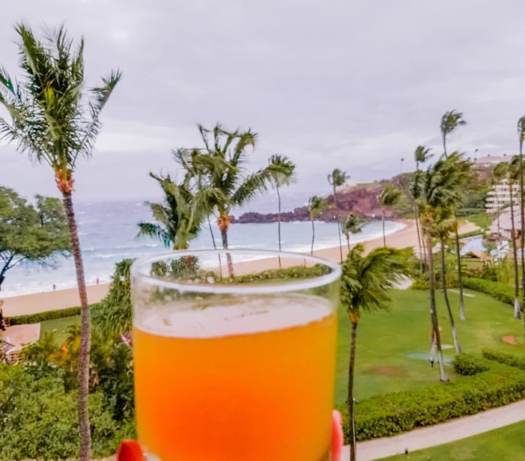 Tropical cocktail in Maui
