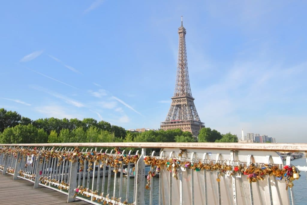 Instagrammable spots in Paris - Love Lock Bridge