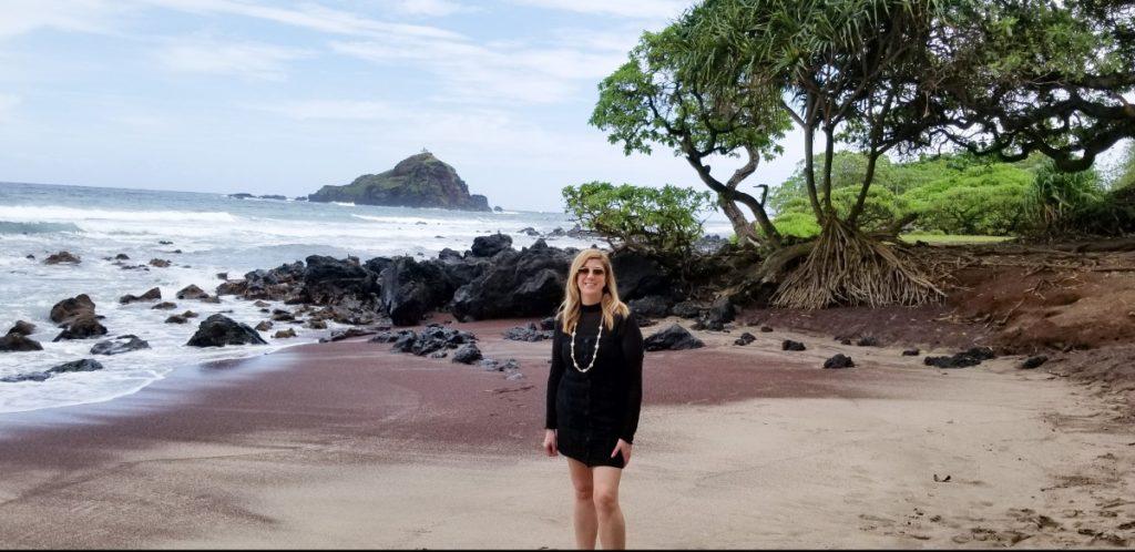 Eden on a beach in Maui