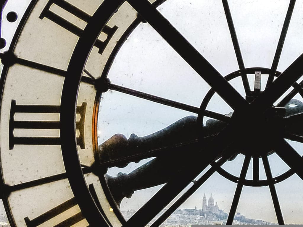 Clock at Musee d'Orsay in Paris