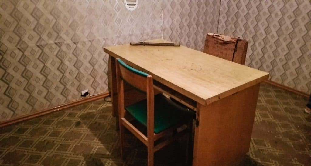 Interrogation Room at KGB Museum Riga