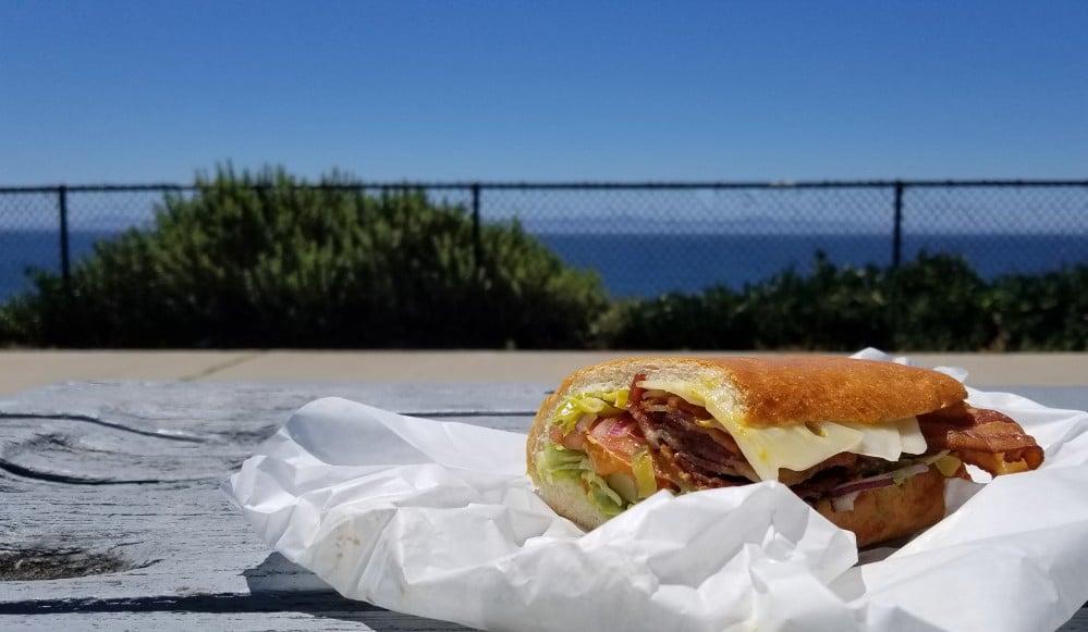 Sandwich at the beach in Santa Barbara