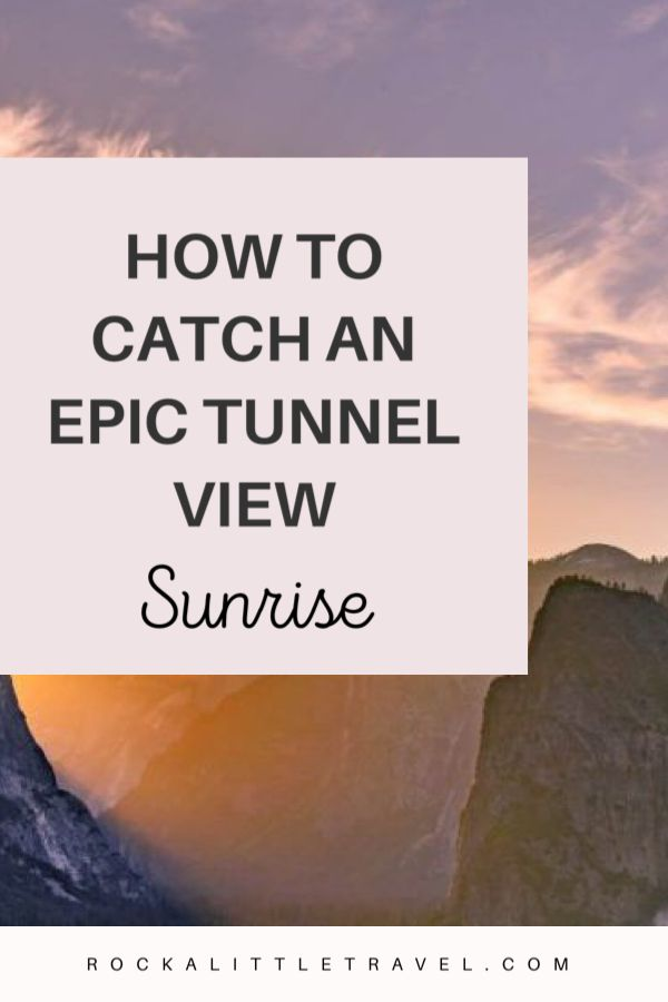 How to catch an epic tunnel view sunrise - Pinterest Pin