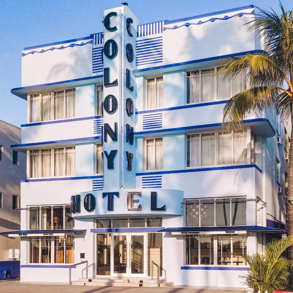 Art Deco Buildings in Miami Beach