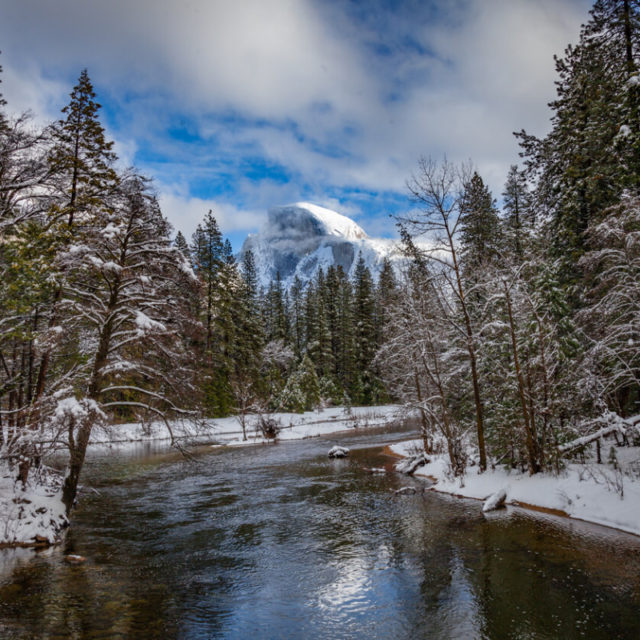 Yosemite's Merced River in Winter