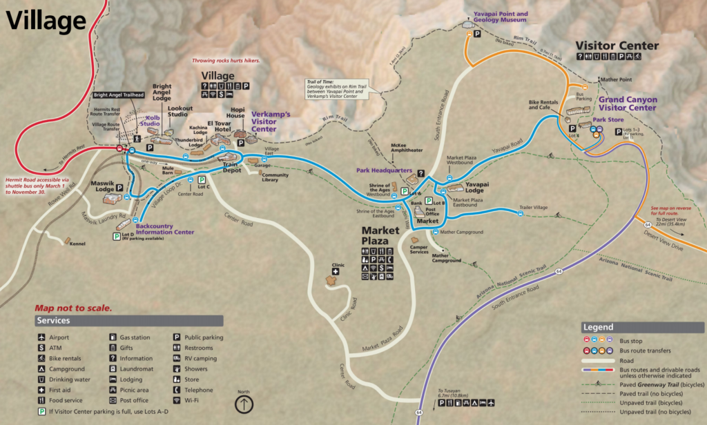 Grand Canyon Park Map