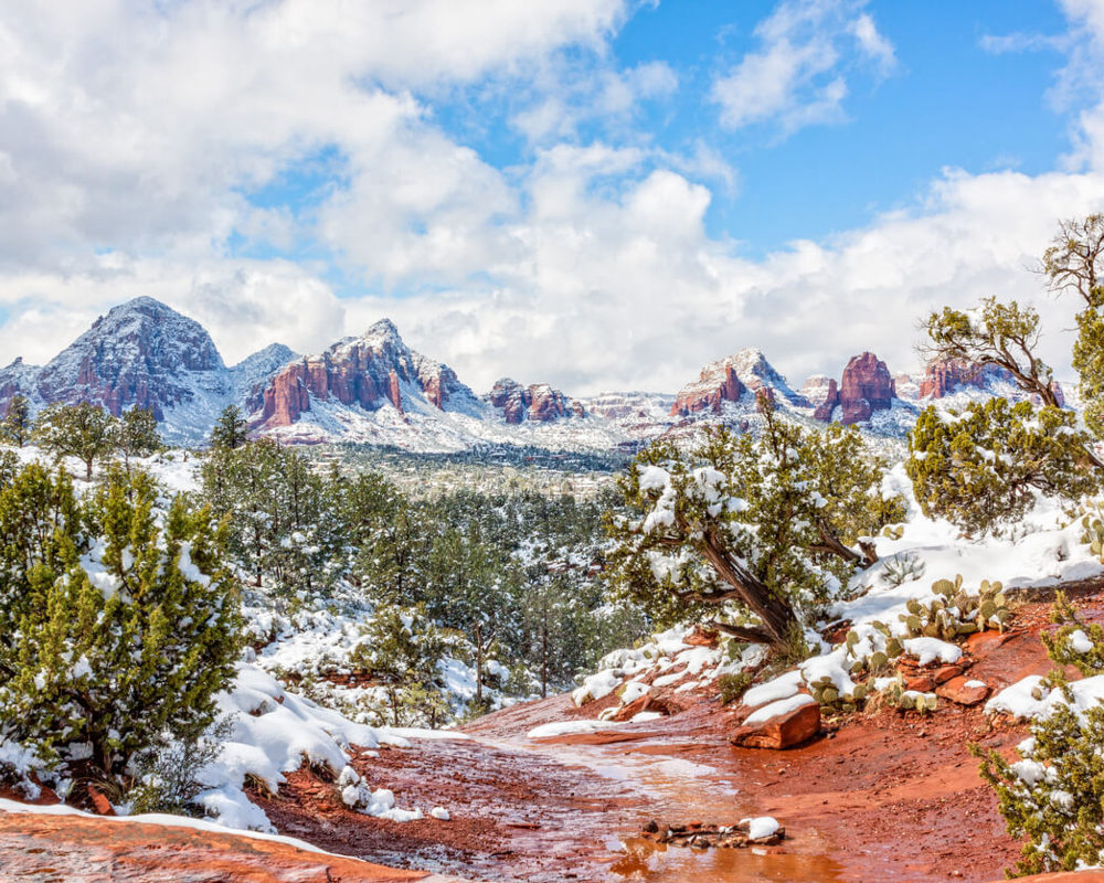 Snow in Sedona Arizona
