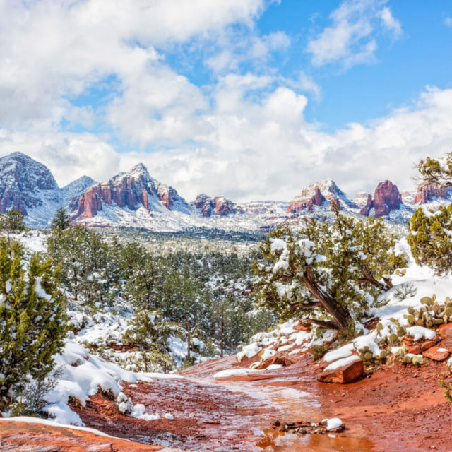 Snow in Sedona Arizona
